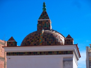 Detail of the tiled roof