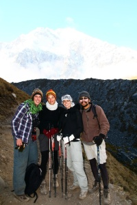 Me with our Canadian friends Nick and Ariel, and our guide Edwin