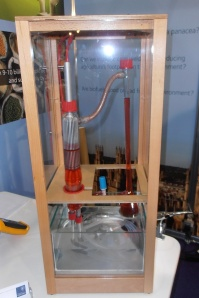 Solutions at the conference include this water pump made by Imperial College students